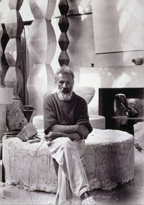 Constantin Brancusi in his studio in 1934
