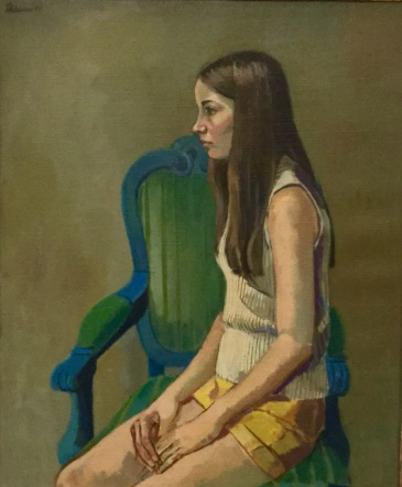 "Barney Delabano, 1971, ""Cindy"" oil on canvas 29""x24"""